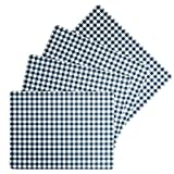 "Benson Mills - Manteles Individuales (Corcho), Calvin Gingham Check Placemat Navy Blue, 12"" X 16"" Rectangular Set of 4"