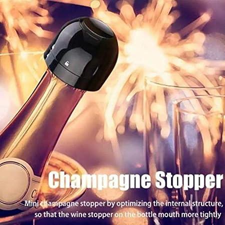 kepos - Tapones sellados herméticos para champán, 2 unidades, tapones sellados, ideales para vino tinto, vino, cerveza, champán, vino espumoso, utensilios de bar de cocina