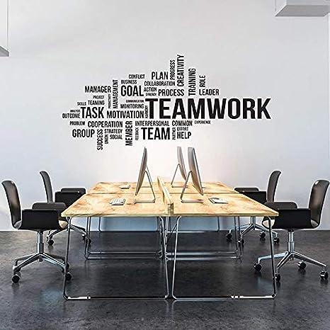Divertido moderno trabajo en equipo oficina inspiradora etiqueta de la pared de vinilo   Regalos de la fiesta de cumpleaños del cuarto de niños del dormitorio de los niños