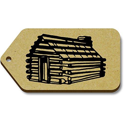 34mm Etiquetas equipaje X 10 66mm 'cabaña Madera' Regalo De Azeeda tg00063933 xHqwOYwZ