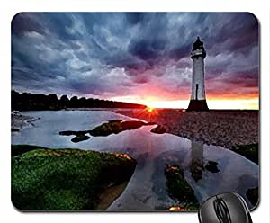 Last sun rays Mouse Pad, Mousepad (Sunsets Mouse Pad, 10.2 x 8.3 x 0.12 inches)