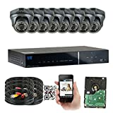 GW Security 8 Channel HD 2.0MP 1080P HD Outdoor/ Indoor Security Camera System with Pre-Installed 2TB Hard Drive - High Resolution Long Distance Transmit Range (Dome cameras)