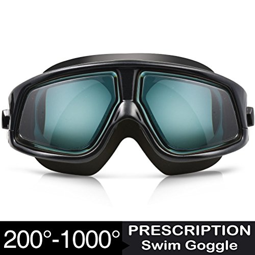 Zionor RX Prescription Swim Goggles, G3 Optical Corrective Swimming Goggles...