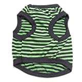 litymitzromq Pet Clothes for Small Dog Cat - Adorable Stripe Pet Dog Puppy Cat Vest Clothes Costume Breathable Apparel Outfit Cute Puppy Dog Clothing Summer Cool Vest for Pet Sweatshirt