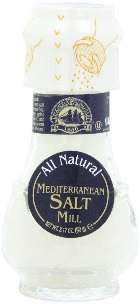 Drogheria & Alimentari All Natural Spice Grinder Mediterranean Salt, 3.17 Ounce (Pack of 6)