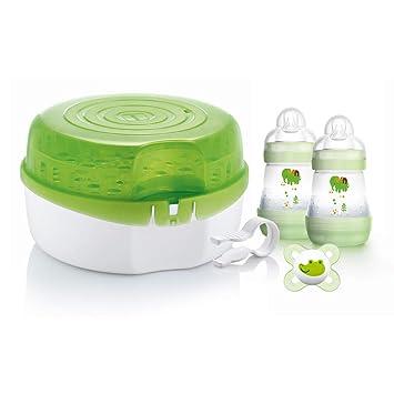 Amazon.com: MAM microondas esterilizador a vapor: Beauty