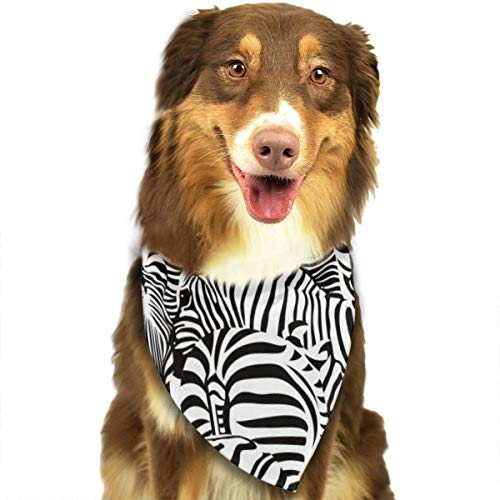 TNIJWMG Zebra Texture Bandana Triangle Bibs Scarfs Accessories for Pet Cats and Puppies -