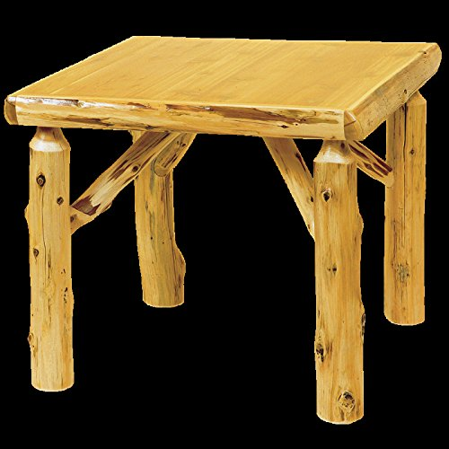 Cedar Log Game Table Real High Quality Wood Western Lodge Rustic Cabin (Square Checkerboard Table Folding)