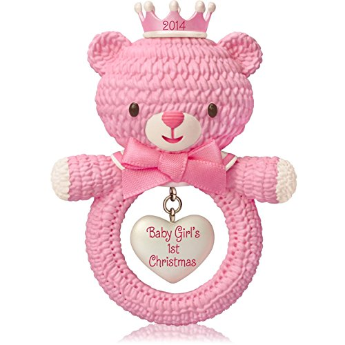 1 X Baby Girl's First Christmas - 2014 Hallmark Keepsake Ornament