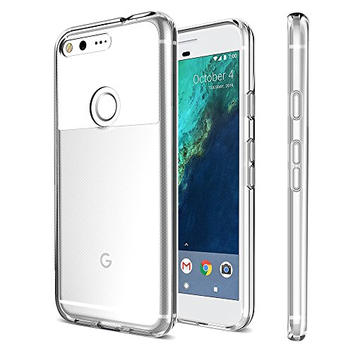 Google Pixel Case, XDesign [XClear] Protective Clear Bumper for Google Pixel (2016) [Scratch Resistant] Integrated Shock-Absorbing Bumper Cover Hard Back Panel - [All Clear]
