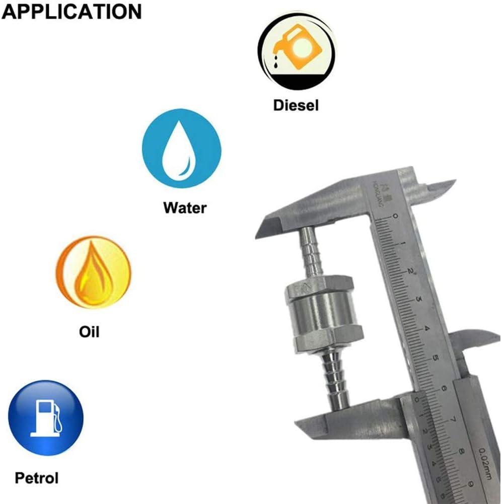 WOVELOT 2 Pi/èCes en Aluminium Anti-Retour Unidirectionnel Soupape Reniflard le Reniflard Outil de Carburant 6Mm
