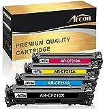 hp 1600 color laserjet printer - Arcon 4 Packs Compatible for HP 131A 131X CF210X CF210A CF211A CF212A CF213A Toner Cartridge for HP LaserJet Pro 200 color M251nw HP M251nw HP MFP M276nw Canon 131 MF8280Cw LBP7110Cw Laser Printer Ink