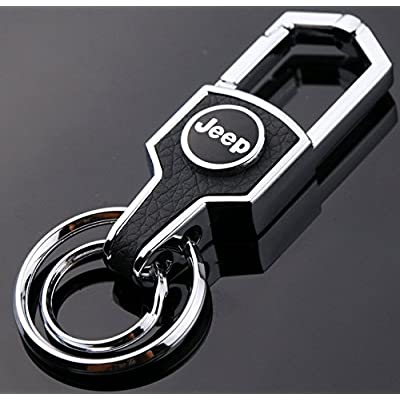 Jeep Key Chain Stainless Steel Grill Key Chain Car Keychains Jeep Lanyard for Men and Women: Automotive