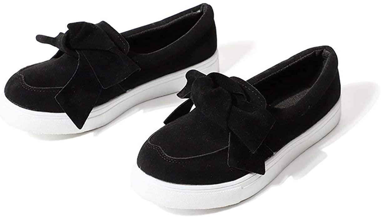 Amazon.com | JITTUE Suede Loafers for Women Vans Slip on Platform ...