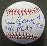 """PSA/DNA ERNIE BANKS #14 """"LETS PLAY 2"""" CUBS AUTOGRAPHED OFFICIAL ML BASEBALL"""