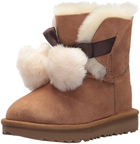 (UGG Girls T Gita Pull-on Boot, Chestnut, 6 M US Toddler)