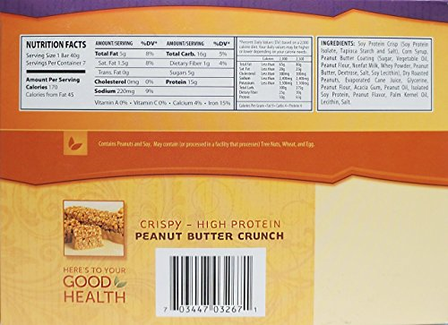 NutriWise - Peanut Butter Crunch Diet Protein Bars (7 bars)
