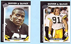 Kevin Greene, Greg Lloyd 2004 Topps All Time Fan Favorites Quiver & Quake 2 Card Set - Pittsburgh Steelers