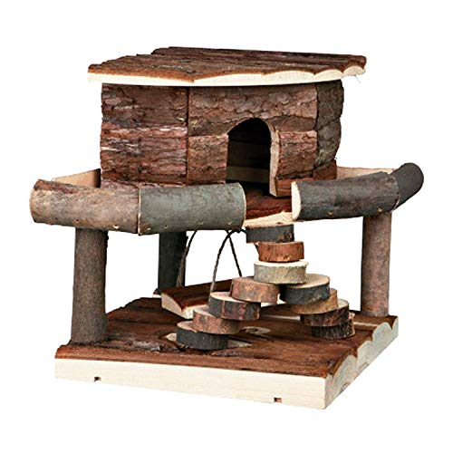 Pet Ting Natural Living Ida House Small Hamster Mice Gerbil Playhouse Wooden