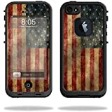 Mightyskins Protective Vinyl Skin Decal Cover for LifeProof iPhone 5/5s/SE Case fre Case wrap sticker skins Vintage Flag