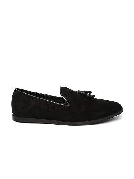 aa40805a92c Carlton London Men Black Suede Tassel Loafers (7)  Buy Online at Low ...