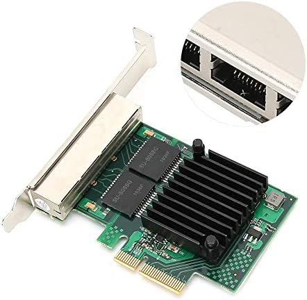 T angxi Scheda PCI-E Gigabit PC Netwrok, 4 Porte RJ45 Interfaccia Gigabit PCI-E Scheda di Rete Desktop Chipset sostitutivo per Adattatore Scheda Gigabit Ethernet per Intel I350AM4