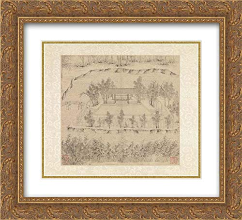 Wen Zhengming - 32x28 Gold Ornate Frame and Double Matted Museum Art Print - Garden of The Inept Administrator
