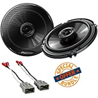 Pioneer 250W 6.5 2-Way G-Series Coaxial Car Speakers w/ Metra 72-7800 Speaker Connector Harnesses for Select Honda Vehicles