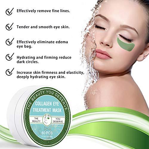 51Cps7cyuRL - Chlorella Anti-Aging Collagen Eye Treatment Mask Eye Pads,Effectively Remove Fine Lines Eliminate Edema Eye Bag Reduce Dark Circles,Deeply Hydrating Eye Skin(30 Pairs/60 Pcs)