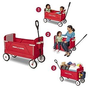 Radio Flyer 3-in-1 EZ Fold Wagon Ride On, Red from Radio Flyer = Import - Vietnam