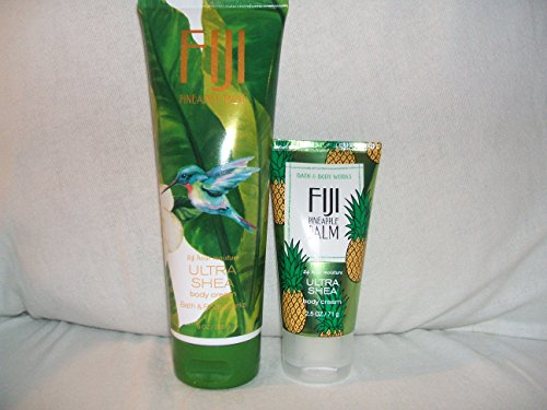(Bath & Body Works One for home & One for Travel – ULTRA SHEA Body Cream Set – FIJI PINEAPPLE PALM Bath & Body Works)