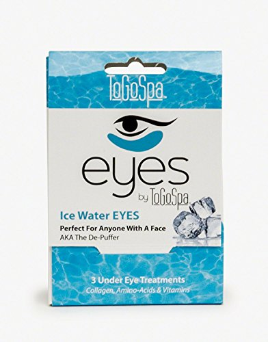 Ice Water EYES by ToGoSpa – Premium Anti-Aging Collagen Gel Pads for Puffiness, Dark Circles, and Wrinkles – Under Eye Rejuvenation for Men & Women - 1 Pack - 3 Pair (Ice Spa)