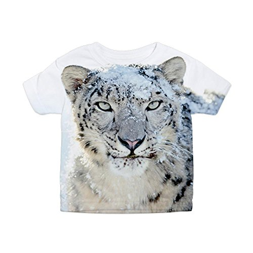 Royal Lion Toddler All Over Print T-Shirt Snow Leopard HD - 4T