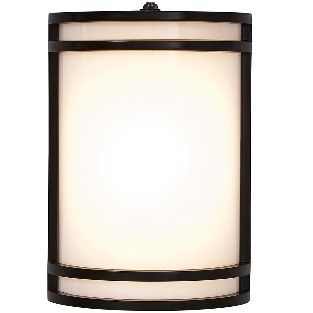 Modern Outdoor Wall Sconce | 10'' Clean Line Exterior Light | Black Finish with Frosted Lens | 3000K LED Lighting with Dawn to Dusk Auto Sensor and No Bulb Required
