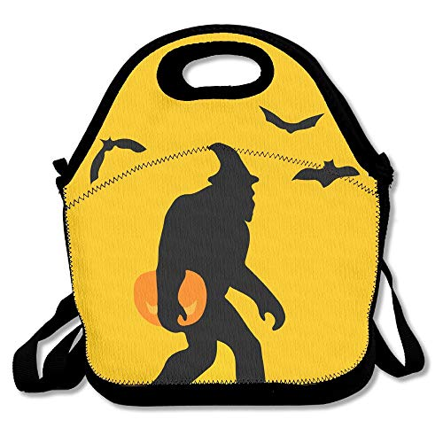Insulated Kids Neoprene Lunch Bag with Adjustable Strap Spooky Bigfoot Halloween Children's Lunch Bag/Backpack Lunch Tote with Handle for Easy Carrying]()