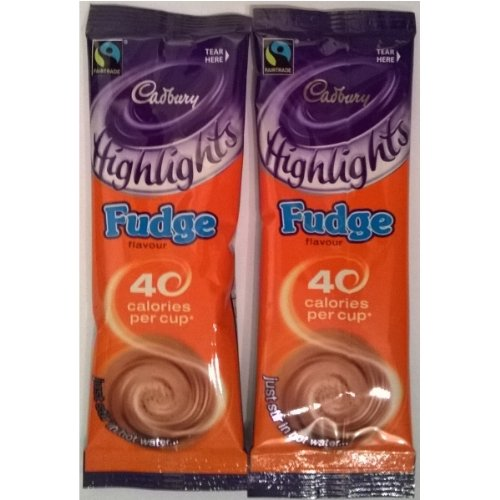 20 Cadbury Highlights Fudge Flavour Instant Hot Chocolate Sachets