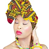 HeadWrap | STUNNING DASHIKI HEADWEAR | AFRICAN HEAD WRAP | Hijab | PREMIUM QUALITY HEAD WRAP African HeadWraps Hair Loss African Fabric Turban Headband Muslim Head Cover Under Scarf | ROYAL HEAD WRAPS