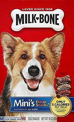 Milk-Bone Mini's Flavor Snacks Dog Treats, 15 Ounce from Milk-Bone