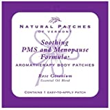 Natural Patches Of Vermont Rose Geranium PMS & Menopause Essential Oil Body Patches, Single Patch Pouch (Pack of 6)