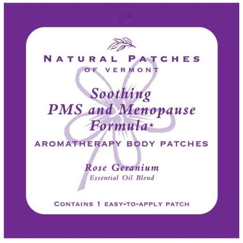 Natural Patches Of Vermont Rose Geranium PMS & Menopause Essential Oil Body Patches, Single Patch Pouch (Pack of 6) (Naturopatch Essential Oil Patch)