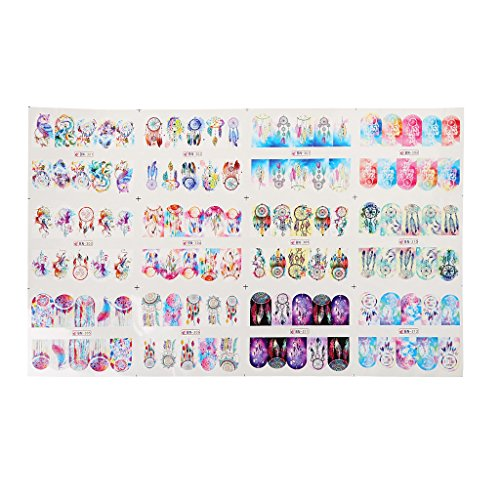 (3D Beauty Cartoon Owl Colorful Nail Art Water Transfer Adhesive Stickers Decals for)