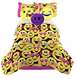 Emoji Girls Complete Bedding Set with (3) Plush Pillows - Twin