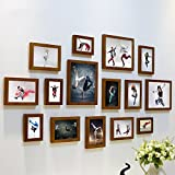 Home@Wall photo frame DIY Photo Frame Sets,Living Room Photo Frame Wall Creative Combination Sofa Background Frames Sets Of 15 ( Color : F , Size : 15frames/13575CM )