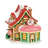 Department 56 Village Rudolph the Red-Nosed Reindeer Clarice's North Pole Bakery Lit Building, Multicolor