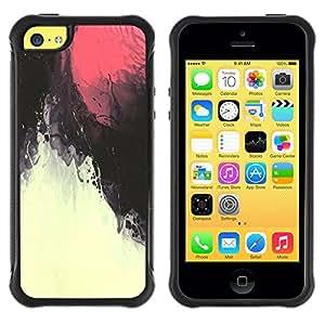 LASTONE PHONE CASE / Suave Silicona Caso Carcasa de Caucho Funda para Apple Iphone 5C / Red Sky Magma Under Water