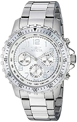 Invicta Men's 6620 II Collection Chronograph Stainless Steel Silver Dial Watch from Invicta