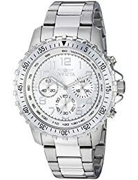 Men's 'II' Swiss Quartz Stainless Steel Casual Watch, Color:Silver-Toned (Model: INVICTA-6620)