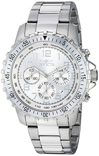 Invicta Men's 'II' Swiss Quartz Stainless Steel Casual Watch, Color:Silver-Toned (Model: INVICTA-6620) ()
