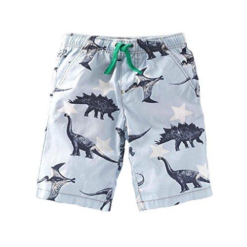 - Gotend Dinosaur Athletic Shorts Pants Boys Active Pants,Light Blue(5-7Y)