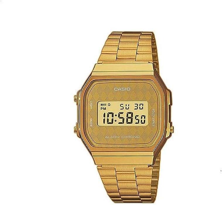 a003d51cc28 Amazon.com  Casio Collection Digital Watch for Ladies Retro Gold ...